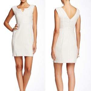 Tracy Reese Victoria Embellished Textured Sheath